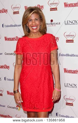 NEW YORK-FEB 10, 2015: TV personality Hoda Kotb attends the 12th Annual Woman's Day Red Dress Awards at Jazz at Lincoln Center on February 10, 2015 in New York City.