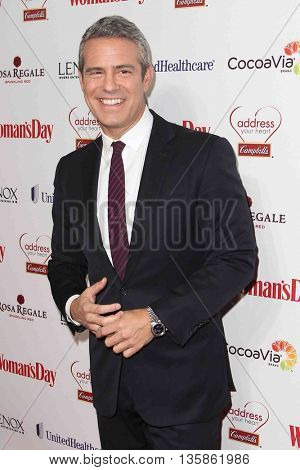 NEW YORK-FEB 10, 2015: TV personality Andy Cohen attends the 12th Annual Woman's Day Red Dress Awards at Jazz at Lincoln Center on February 10, 2015 in New York City.