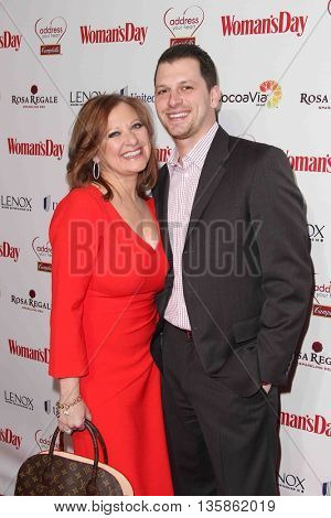 NEW YORK-FEB 10, 2015: TV personalities Caroline Manzo (L) and son Albie Manzo attend the 12th Annual Woman's Day Red Dress Awards at Jazz at Lincoln Center on February 10, 2015 in New York City.