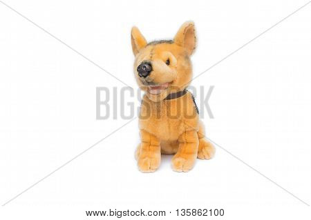 plush toy dog on white background,Dog Plush toy for children.