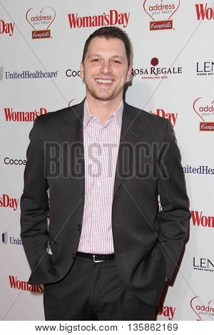 NEW YORK-FEB 10, 2015: TV personality Albie Manzo attends the 12th Annual Woman's Day Red Dress Awards at Jazz at Lincoln Center on February 10, 2015 in New York City.