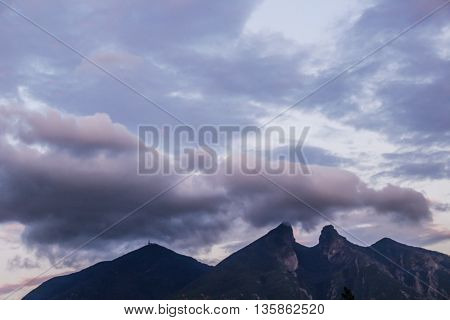 Cerro De La Silla Mountain In Monterrey City