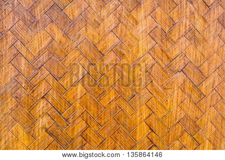 Old dirty grunge handcraft bamboo weave texture - abstract pattern background