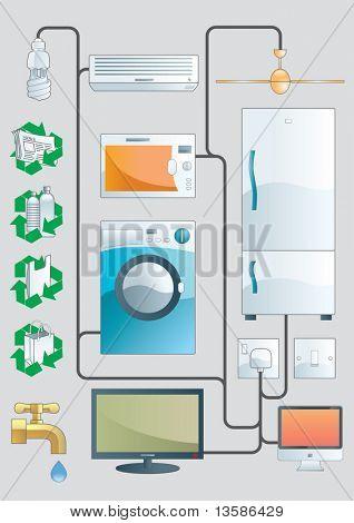 Household illustration