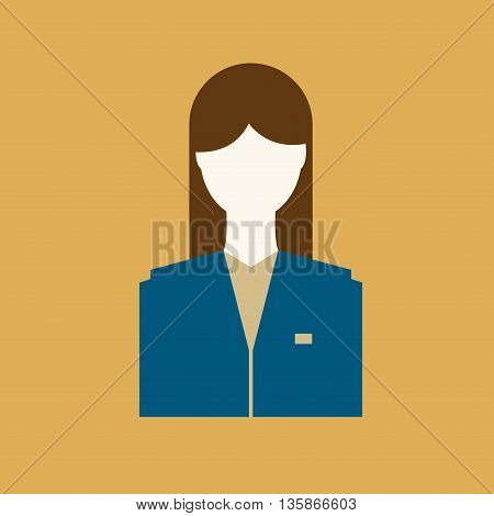 Abstract Woman face icon or sign, vector illustration
