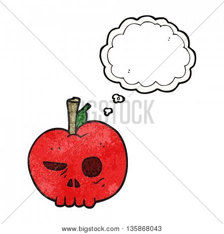 freehand drawn thought bubble textured cartoon poison apple