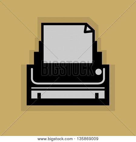 Abstract Printer icon or sign, vector illustration