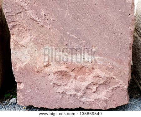 close up red sand stone texture background