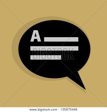 Abstract Speech bubble icon or sign, vector illustration