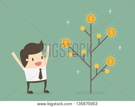Money plant. Money growth and investment concept.