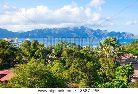 The coast of the tropical island. Coron island. Philippines.