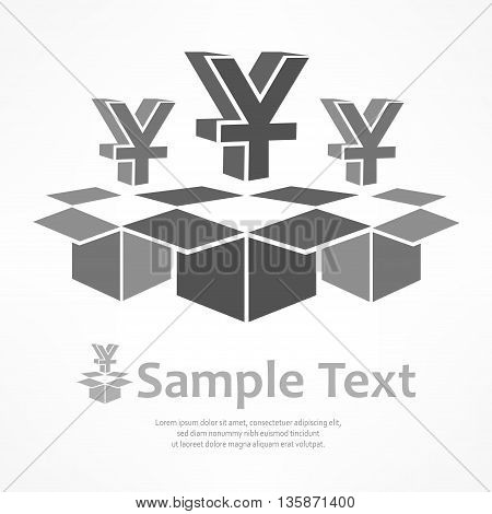 Yen Signs In Boxes