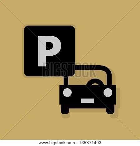 Abstract Parking icon or sign, vector illustration