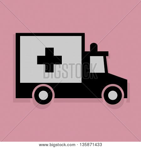 Abstract Ambulance icon or sign, vector illustration