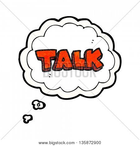 freehand drawn thought bubble textured cartoon talk symbol