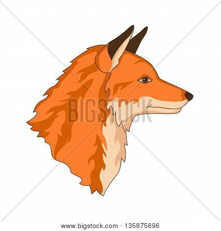 fox red head face realistic vector illustration