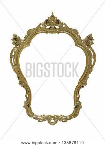 3D Rendering Of A Gold Frame