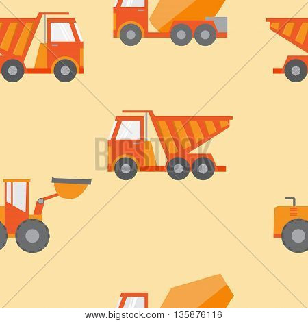 Set of construction equipment and tools vector image.flat icons