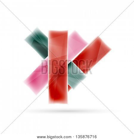 Blank colorful stripes. Business geometric style infographics background. illustration