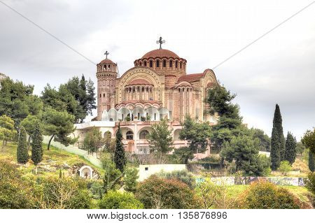 A majestic cathedral of Saint Paul is in city Saloniki