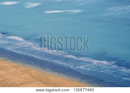 Aerial view of tropical beach high angle view travel or summer concept