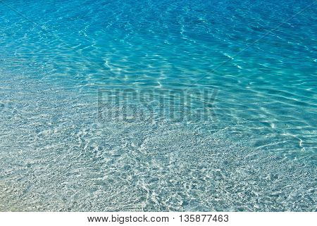 Shallow Sea water texture background panoramic view