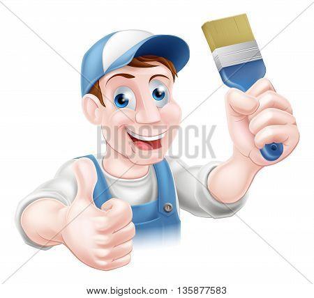 Man Holding Paintbrush