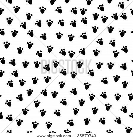 Vector Seamless Background With A Pattern Of Animal Paws. Kids Cute Fabric Print