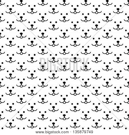 Vector Seamless Background With A Pattern Of The Face Bears. Kids Cute Fabric Print