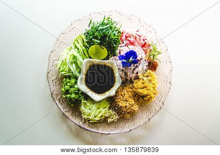 Southern Thai Rice Salad Khao Yam  in Restaurant