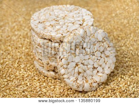 Close up Pile Of multigrain dry cakes