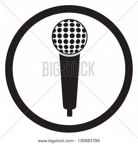 Microphone black sign. Microphone icon and speaker vintage. Vector illustration