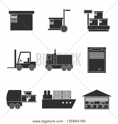 Delivery icons set. Shipping, Transport, Order, Service Fast and Free. Vector illustration EPS 10