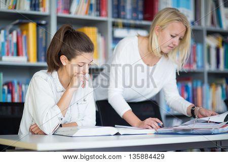 Apprendre à la bibliothèque de l'université pour les examens