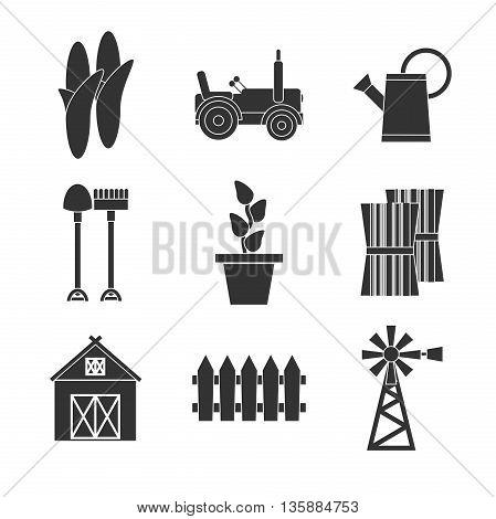 Farming icons set. vector illustration, EPS 10