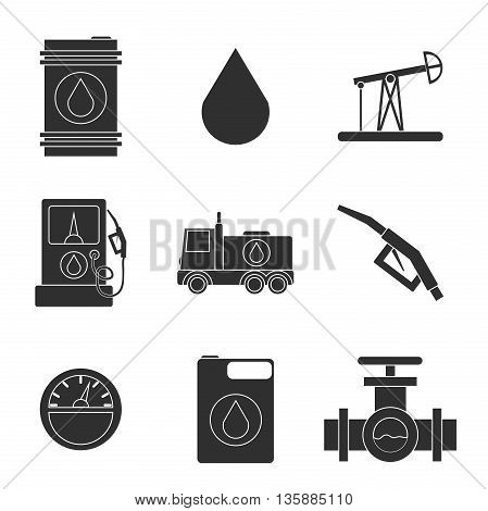 Gas trade vector icon set. Vector illustration, EPS 10