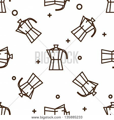 Geyser coffee maker pattern. Vector illustration, EPS 10