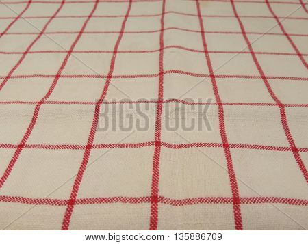 Granny style checkered fabric cloth useful as a background