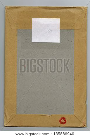 Letter or small packet envelope for mailing