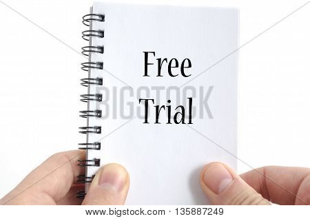 Free trial text concept isolated over white background