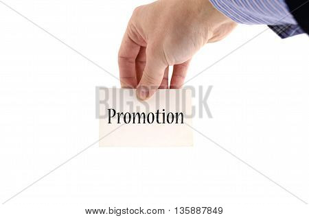 Promotion text concept isolated over white background