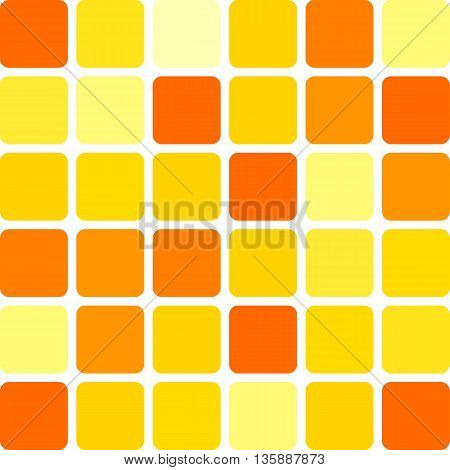 Abstract seamless pattern of squares randomly colored in shades of yellow