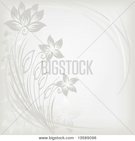 Abstract Background With Three Flowers