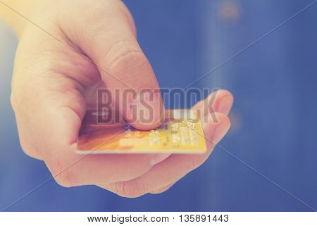 Online Payment, Hands Holding A Credit Card And Using For Online Shopping,shoping Card,shoping Conte