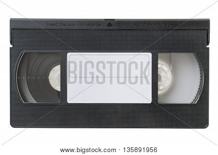 Large picture of an old Video Cassette tape on white background
