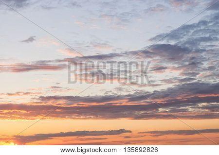 Sunset Cloudy Evening Sky