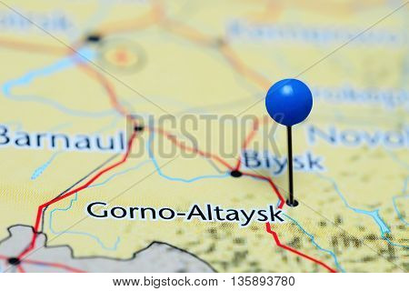 Gorno-Altaysk pinned on a map of Russia