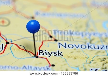 Biysk pinned on a map of Russia