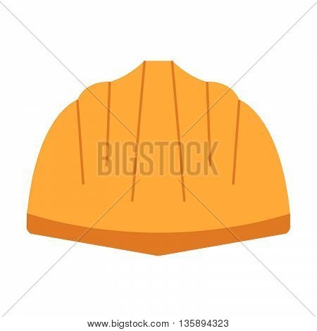 Construction Helmet Vector Flat Icon. Construction Working Tool Item. Flat Logo Construction Helmet