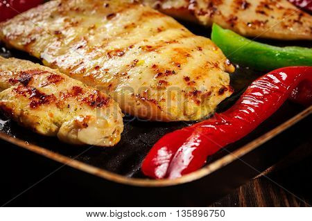 Chicken Breast Fillet In The Pan